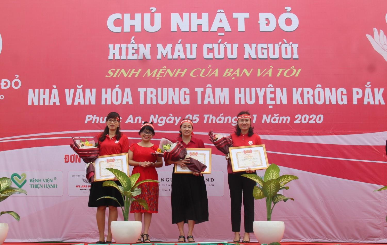 Chủ Nhật Đỏ năm 2020 tại huyện Krông Pắk tiếp nhận được 1.238 đơn vị máu