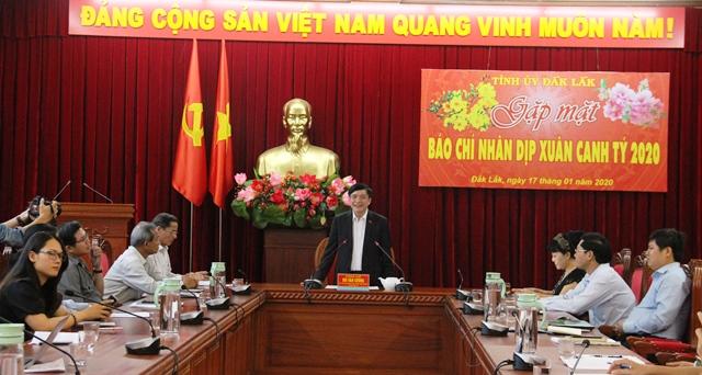Bí thư Tỉnh ủy gặp mặt các cơ quan báo chí nhân dịp Xuân Canh Tý 2020
