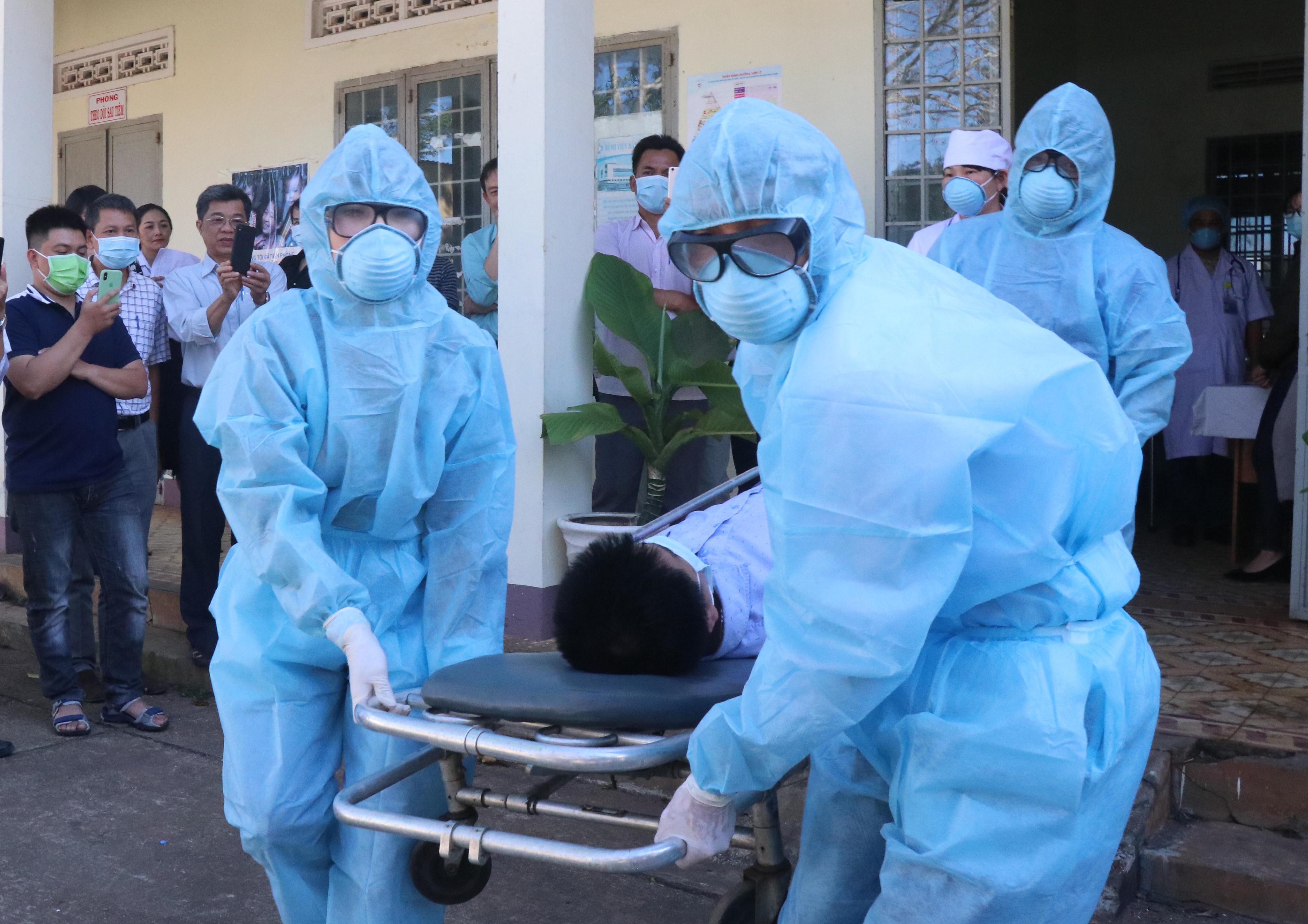 Diễn tập phòng chống dịch bệnh viêm đường hô hấp cấp do chủng mới virus Corona