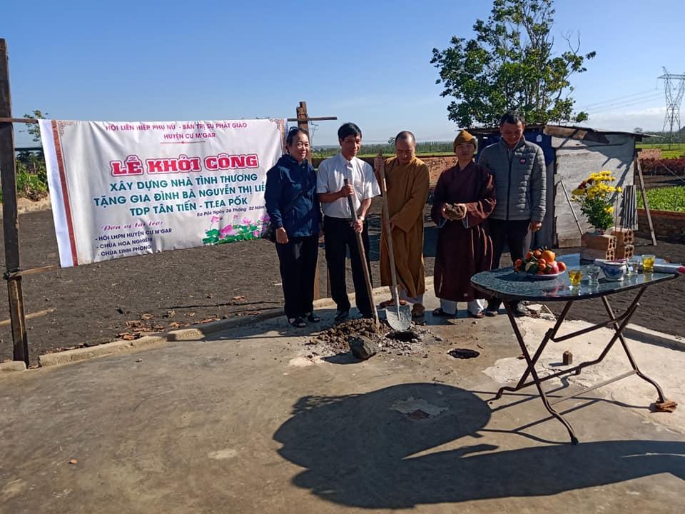 """Khởi công xây dựng """"Mái ấm tình thương"""" cho phụ nữ nghèo huyện Cư M'gar"""