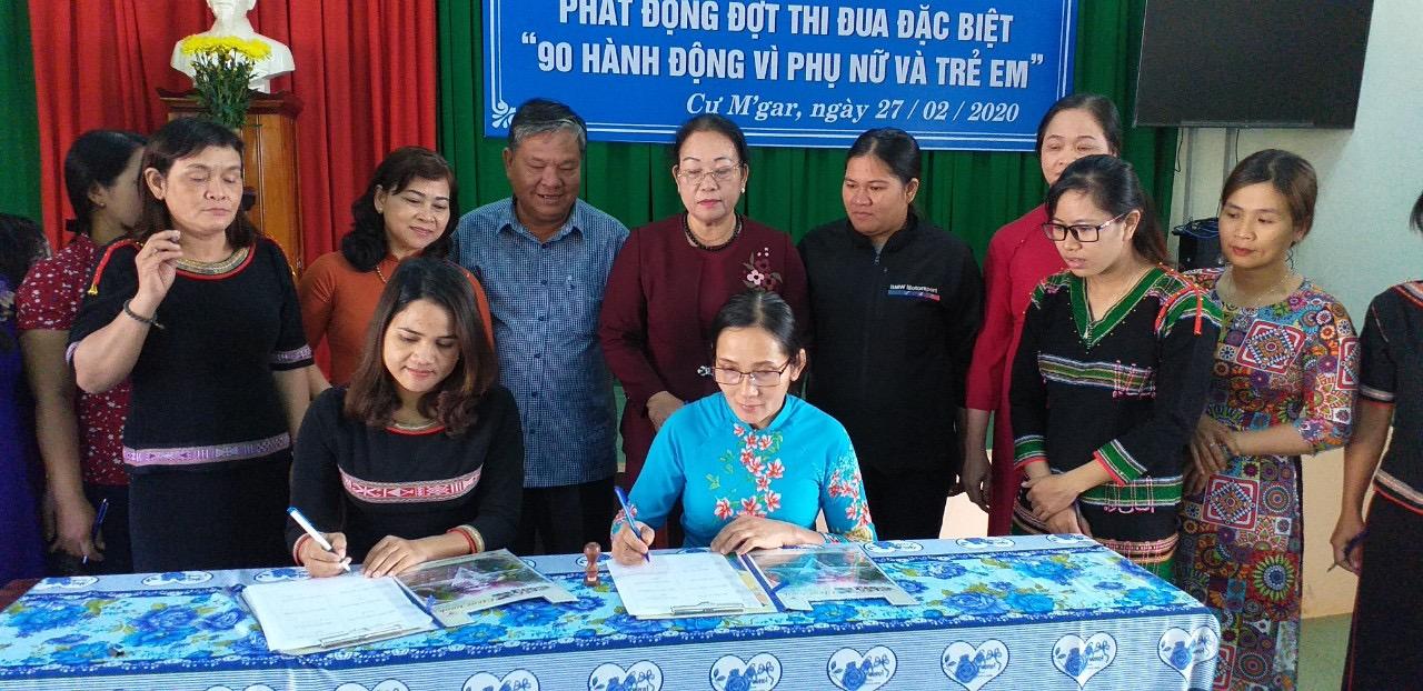 """Hội LHPN huyện Cư M'gar phát động đợt thi đua đặc biệt """"90 hành động thiết thực vì phụ nữ và trẻ em"""""""