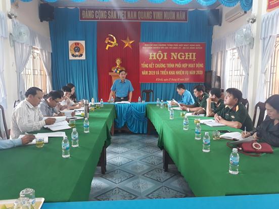 Tổng kết chương trình phối hợp giữa tổ chức chính trị - xã hội với Ban Chỉ huy quân sự huyện