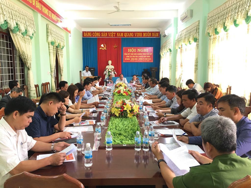 Tổng kết công tác dân vận giữa 03 huyện giáp ranh M'Drắk, Sông Hinh, Krông Pa