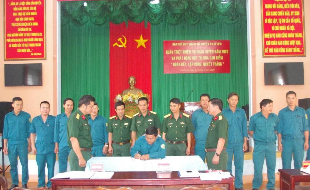 """Ban Chỉ huy Quân sự huyện Ea H'Leo phát động thi đua """"Đoàn kết, Lập công, Quyết thắng"""""""