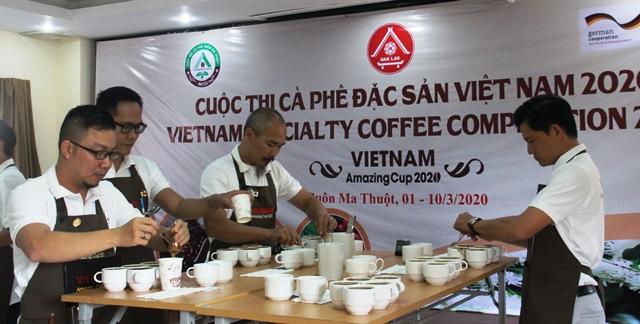 Khai mạc Vòng sơ kết Cuộc thi Cà phê đặc sản Việt Nam 2020