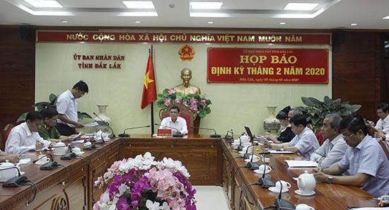 UBND tỉnh họp báo định kỳ tháng 2/2020