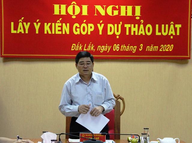 Đoàn đại biểu Quốc hội tỉnh lấy ý kiến góp ý dự thảo luật