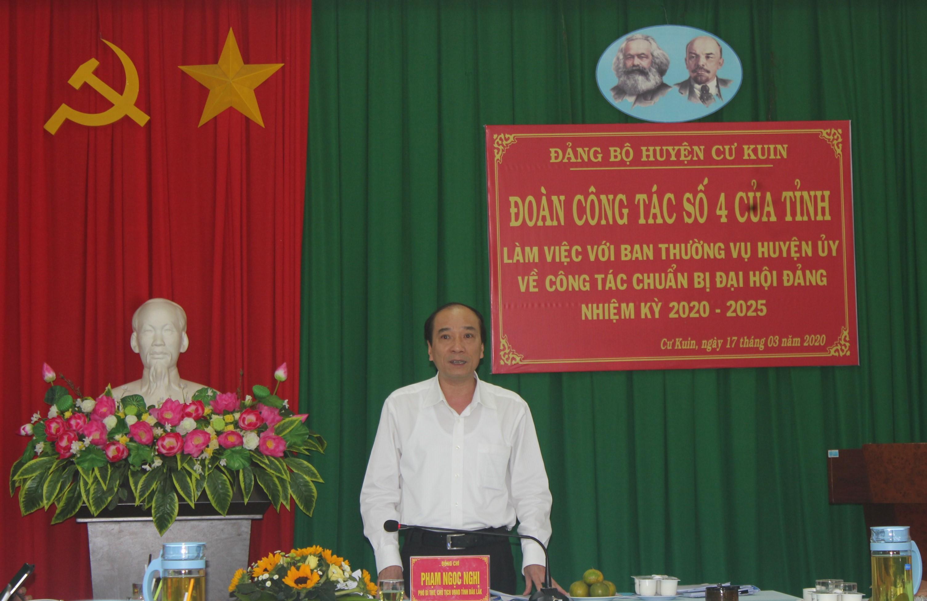 Kiểm tra công tác chuẩn bị Đại hội Đảng bộ huyện Cư Kuin nhiệm kỳ 2020-2025