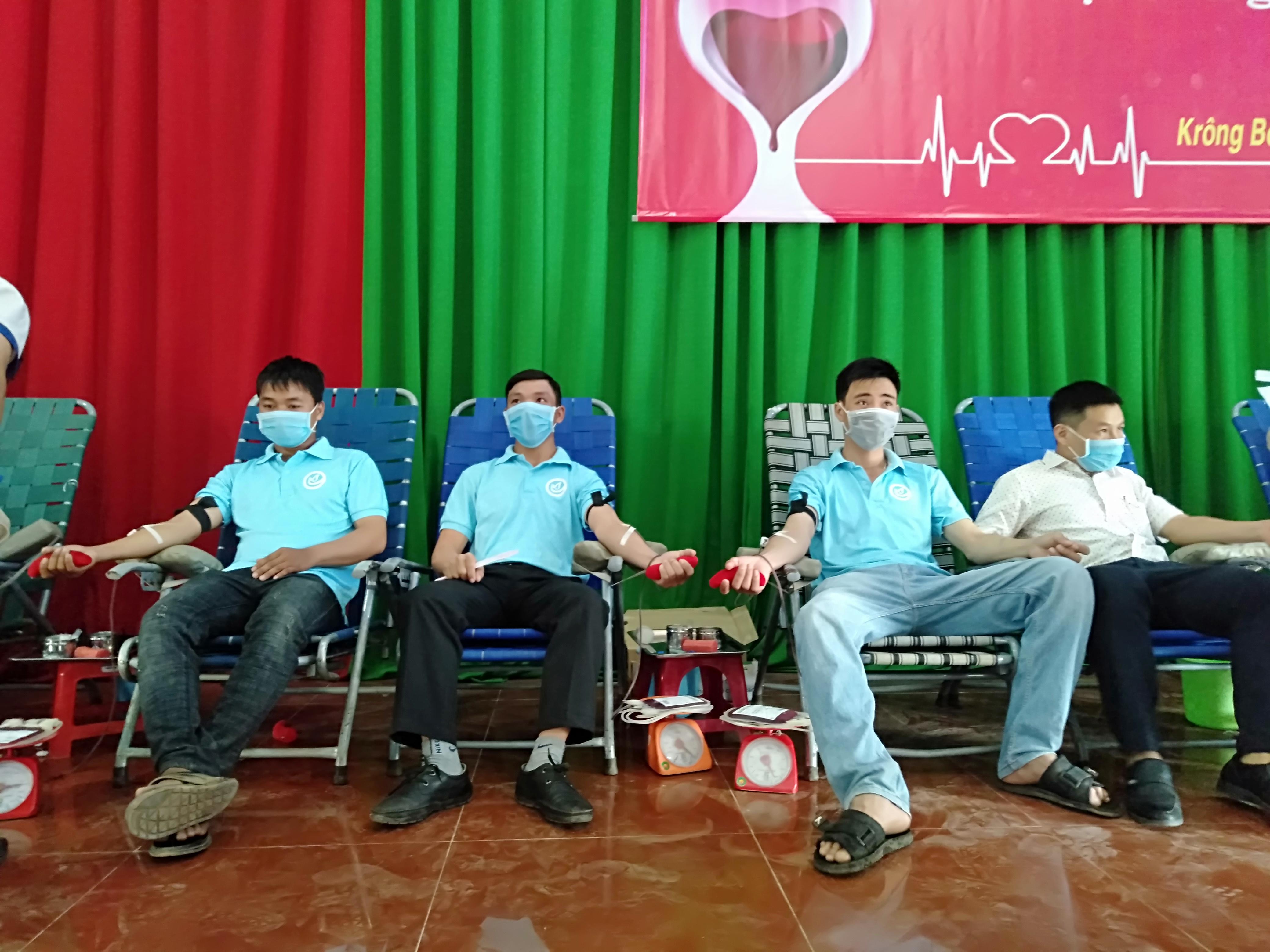 Huyện Krông Bông: Tiếp nhận 238 đơn vị máu tại Ngày hội hiến máu nhân đạo đợt I năm 2020
