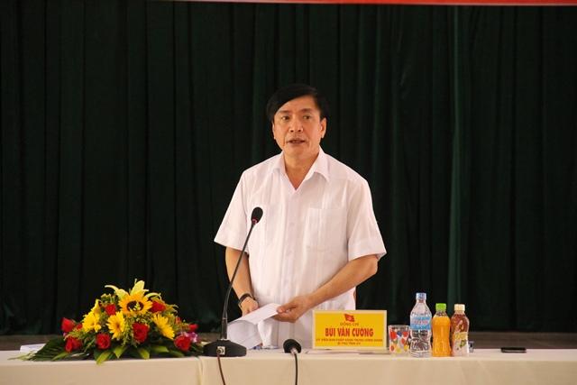 Kiểm tra công tác chuẩn bị Đại hội tại Đảng ủy Khối các cơ quan và doanh nghiệp tỉnh