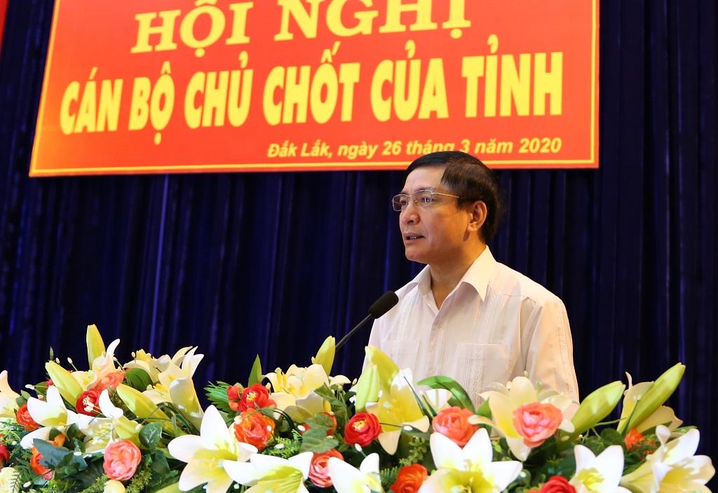 Hội nghị cán bộ chủ chốt của tỉnh về công tác cán bộ