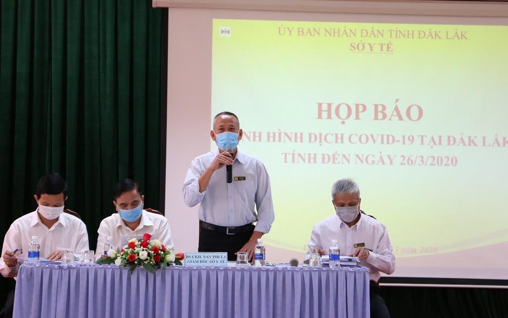 Đến ngày 27/3/2020, Đắk Lắk chưa ghi nhận trường hợp mắc Covid-19