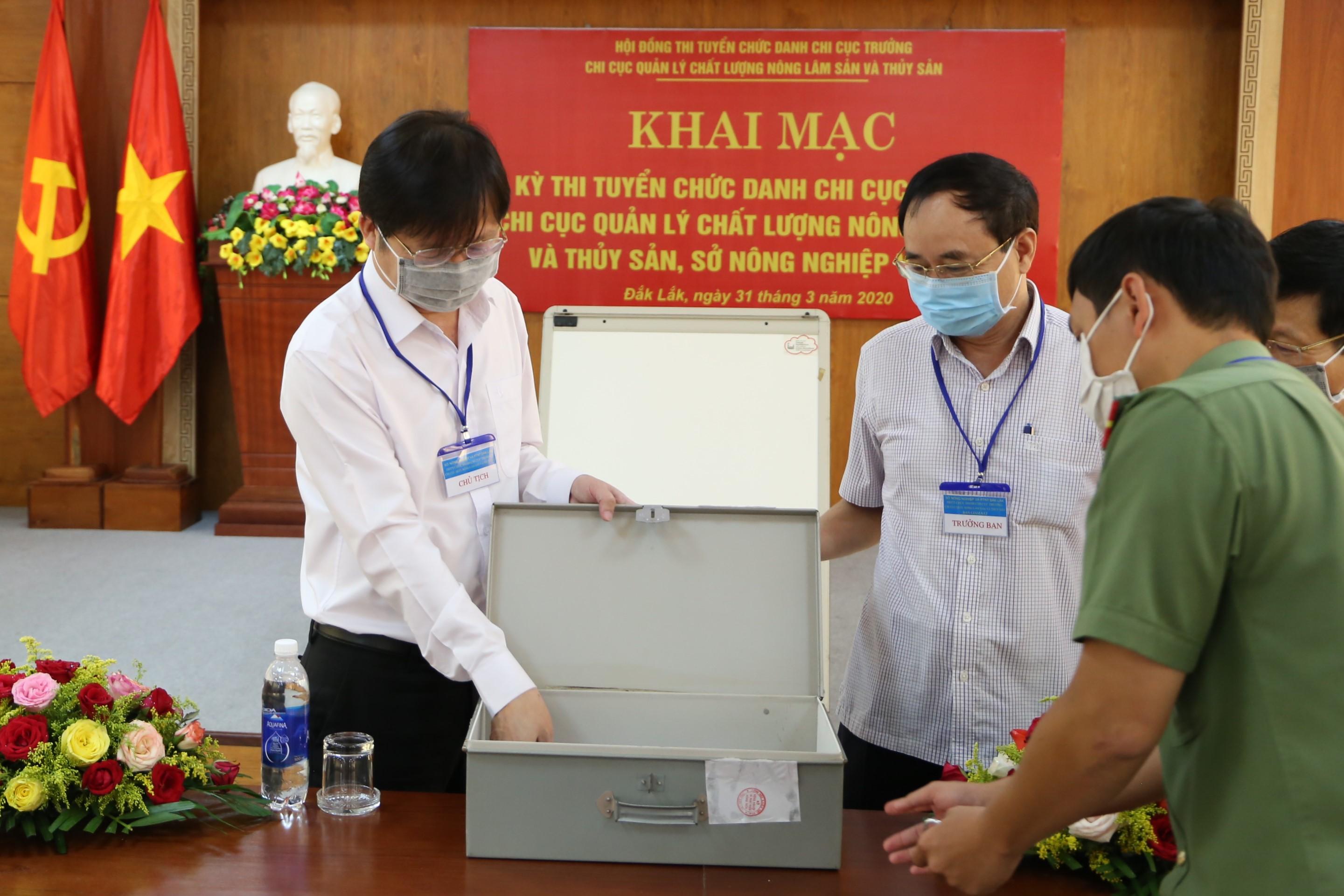 Khai mạc Kỳ thi tuyển chức danh Chi Cục trưởng Chi cục Quản lý chất lượng Nông lâm sản và Thủy sản