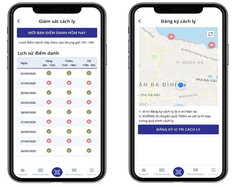 Ứng dụng NCOVI thêm tính năng giám sát người cách ly từ 2/4/2020