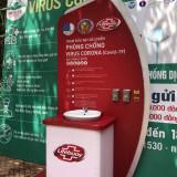 Lắp đặt Trạm rửa tay dã chiến tại Đường sách Cà phê Buôn Ma Thuột
