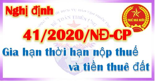 Đính chính Nghị định số 41/2020/NĐ-CP ngày 08/4/2020 của Chính phủ.