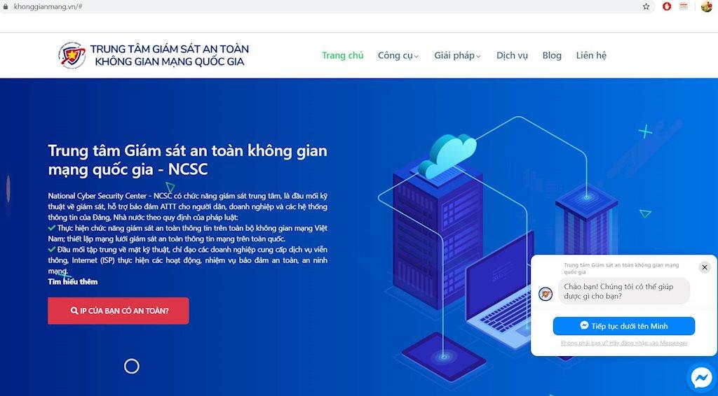 Ra mắt website khonggianmang.vn hỗ trợ đảm bảo ATTT khi làm việc từ xa cho các cơ quan, tổ chức, cá nhân