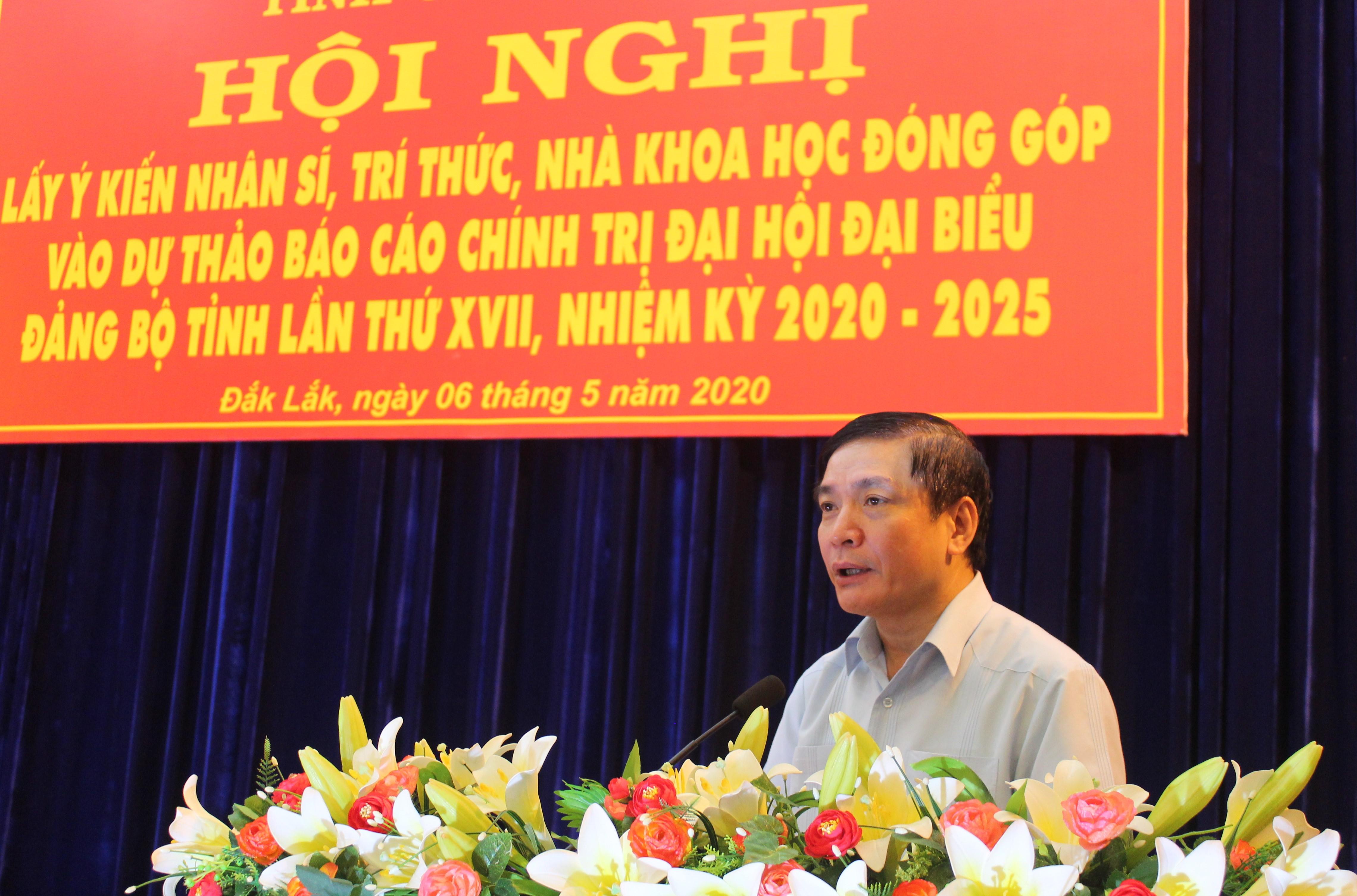 Thường trực Tỉnh ủy lấy ý kiến góp ý vào dự thảo Báo cáo chính trị Đại hội đại biểu Đảng bộ tỉnh lần thứ XVII, nhiệm kỳ 2020-2025