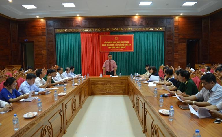 Công bố danh sách chính thức những người ứng cử đại biểu Quốc hội khóa XIV ở tỉnh Đắk Lắk