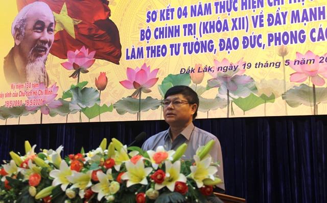 Đắk Lắk sơ kết 04 năm thực hiện Chỉ thị 05-CT/TW của Bộ Chính trị về đẩy mạnh học tập và làm theo tư tưởng, đạo đức, phong cách Hồ Chí Minh