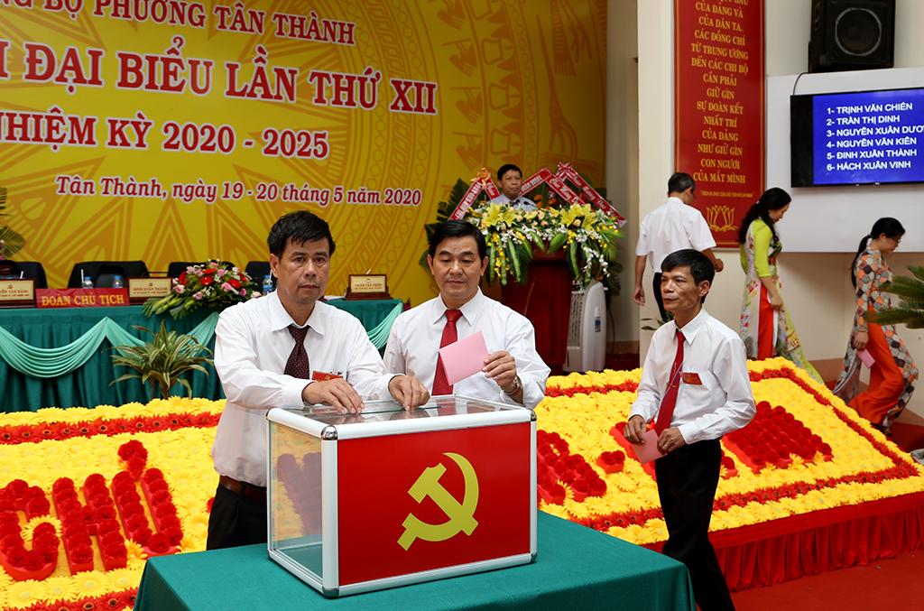Đại hội đại biểu Đảng bộ phường Tân Thành lần thứ XII, nhiệm kỳ 2020 – 2025