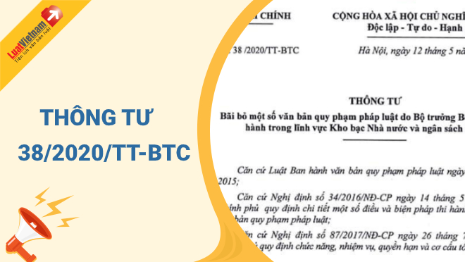 Triển khai Thông tư số 38/2020/TT-BTC ngày 12/5/2020 của Bộ trưởng Bộ Tài chính.