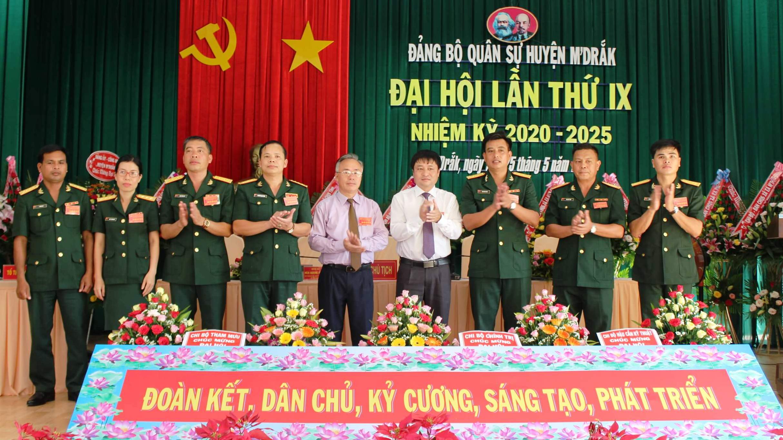 Đại hội Đảng bộ Quân sự huyện M'Đrắk lần thứ IX, nhiệm kỳ 2020-2025