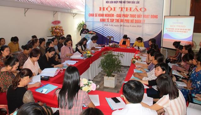 """Hội thảo """"Chia sẻ kinh nghiệm giải pháp thúc đẩy hoạt động mô hình kinh tế tập thể do phụ nữ quản lý"""""""