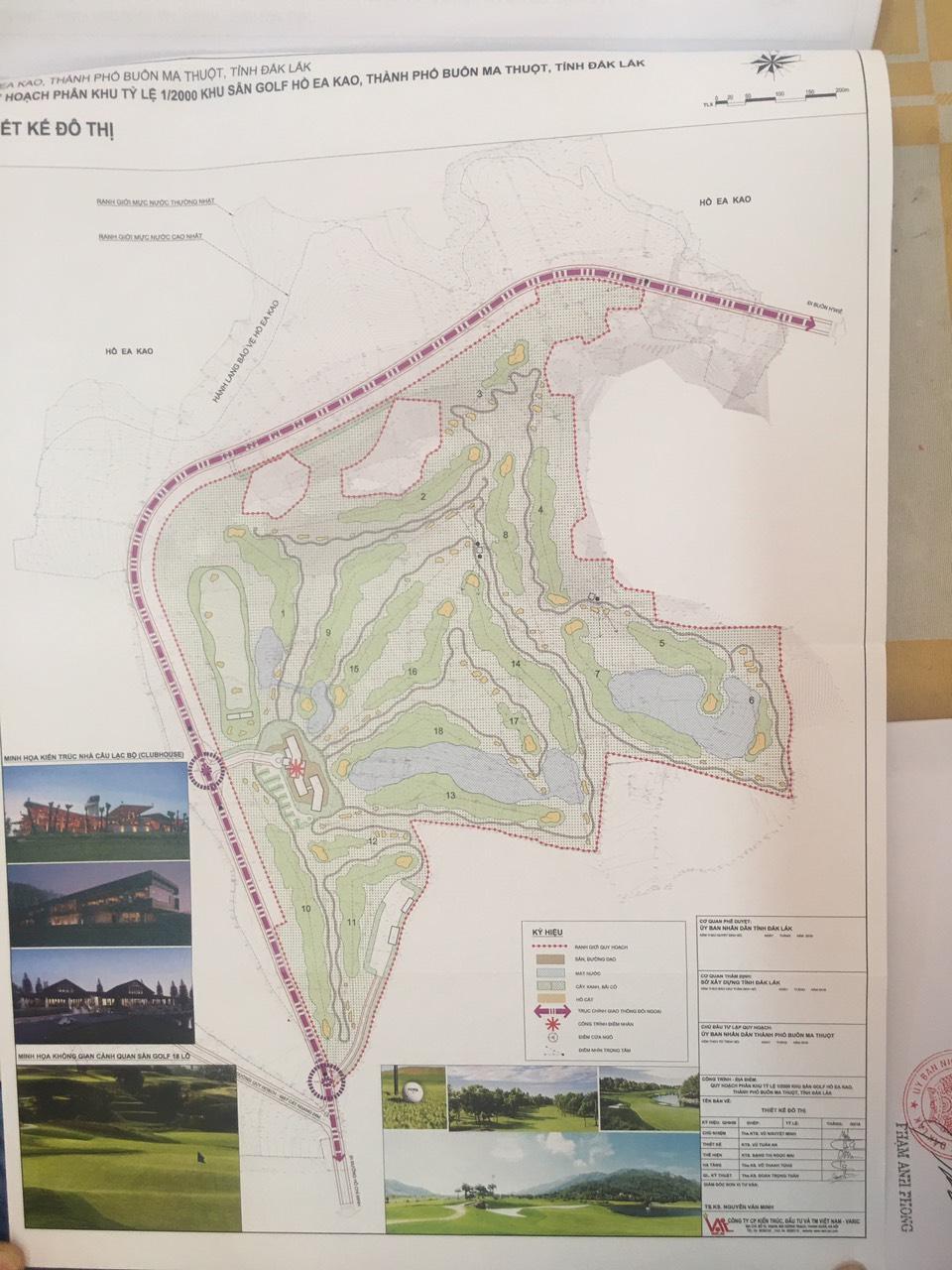 Công bố quy hoạch phân khu tỷ lệ 1/2000 khu sân golf và khu biệt thự hồ Ea Kao (TP. Buôn Ma Thuột)
