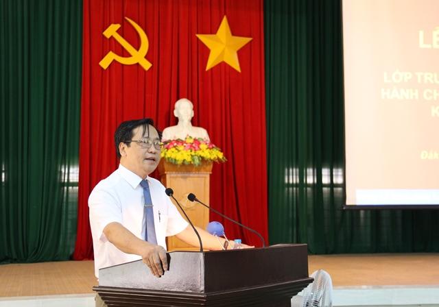 Khai giảng  Lớp Trung cấp lý luận chính trị hành chính, hệ không tập trung K29, khóa 2020-2021