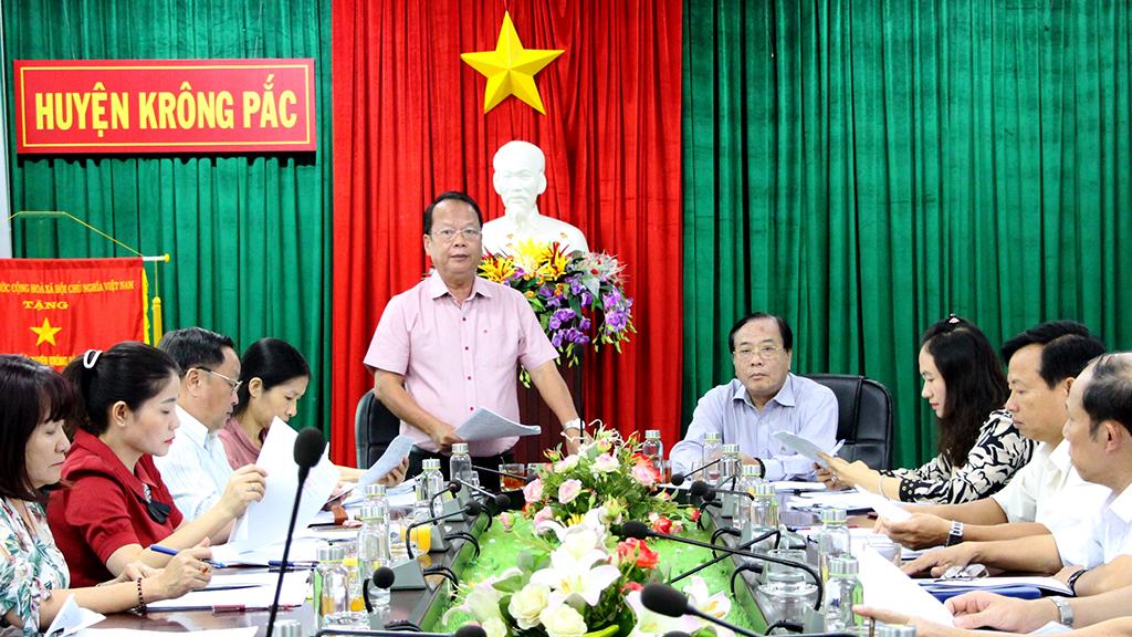 Giám sát việc chấp hành các quy định pháp luật về tố tụng hành chính tại UBND huyện Krông Pắc