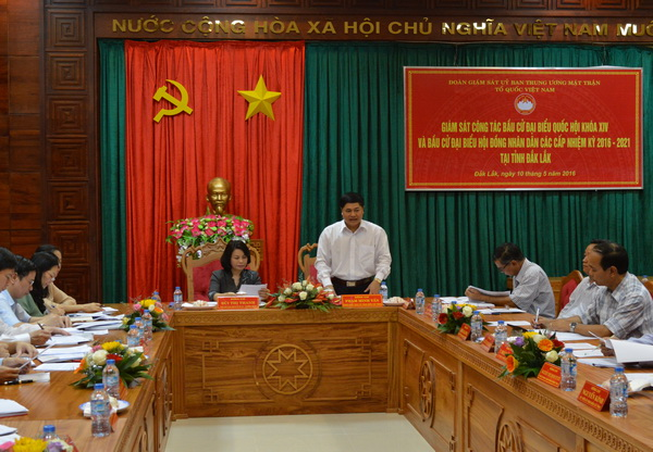 Vietnam Fatherland Front Central Committee monitors election preparations in DakLak