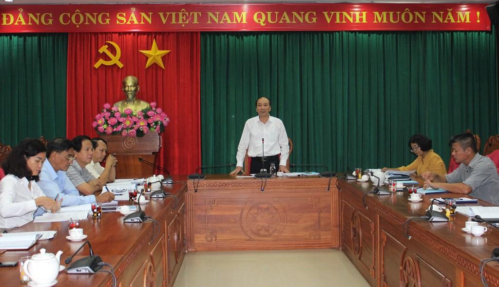 Tổ công tác số 4 của Tỉnh ủy làm việc với Huyện ủy Cư M'gar về công tác chuẩn bị Đại hội Đảng các cấp