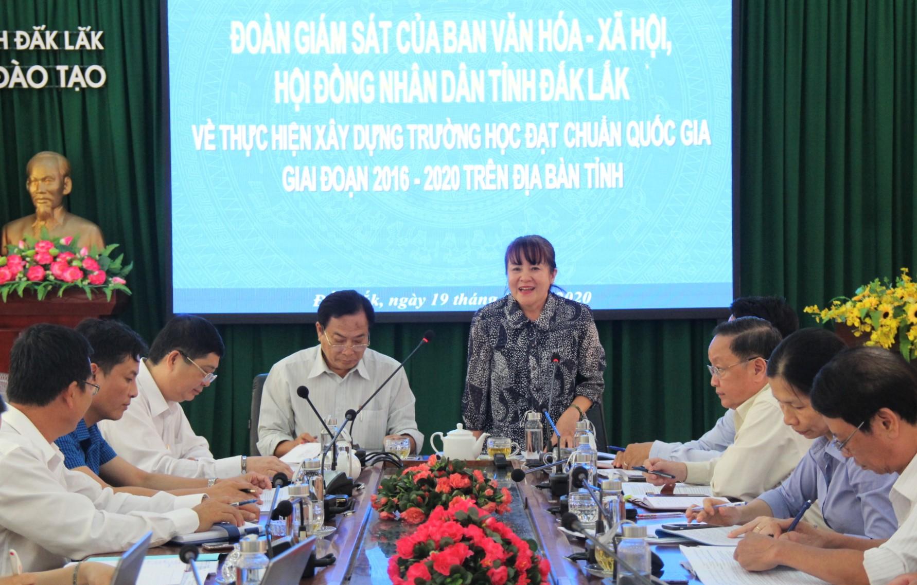 Giám sát việc xây dựng trường học đạt chuẩn quốc gia trên địa bàn tỉnh Đắk Lắk