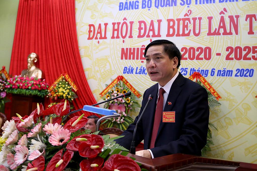Khai mạc Đại hội đại biểu Đảng bộ Quân sự tỉnh Đắk Lắk nhiệm kỳ 2020 - 2025