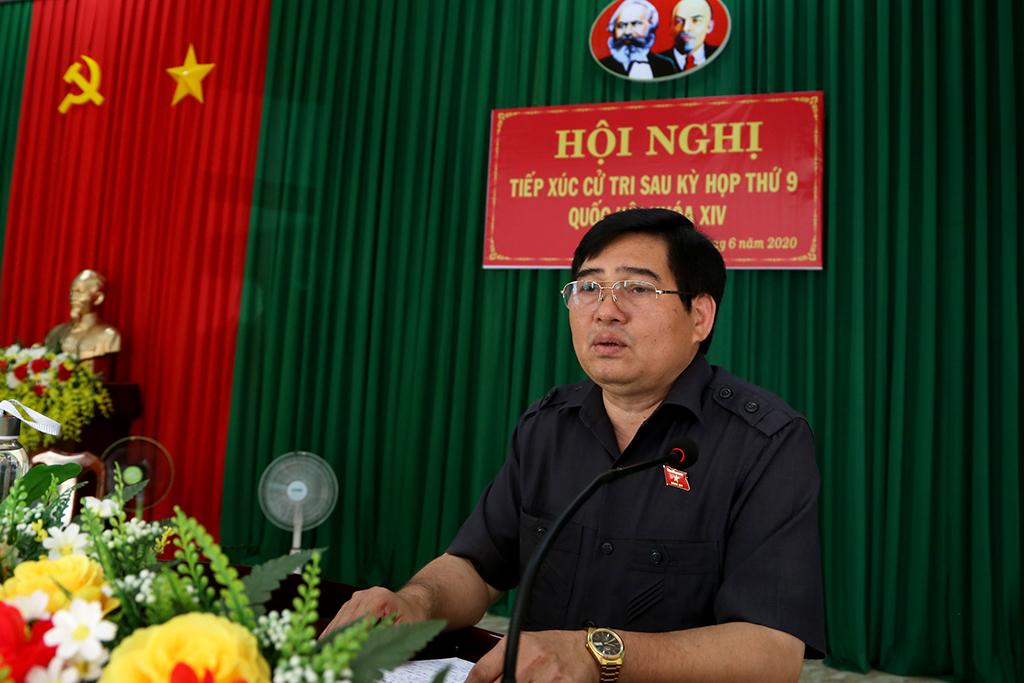 Đoàn đại biểu Quốc hội tỉnh tiếp xúc cử tri sau kỳ họp thứ 9, Quốc hội khóa XIV