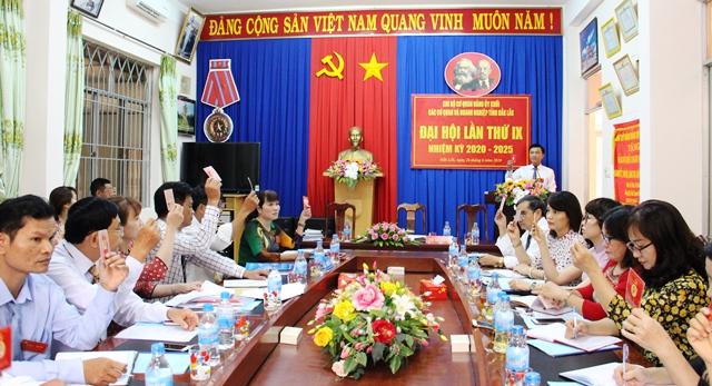 Đại hội Chi bộ cơ quan Đảng ủy khối các cơ quan và doanh nghiệp tỉnh Đắk Lắk lần thứ IX, nhiệm kỳ 2020-2025