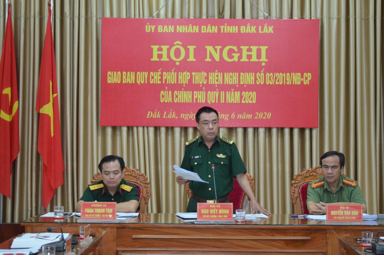 Công an, Quân sự, Biên phòng tỉnh Đắk Lắk tiếp tục thực hiện tốt quy chế phối hợp