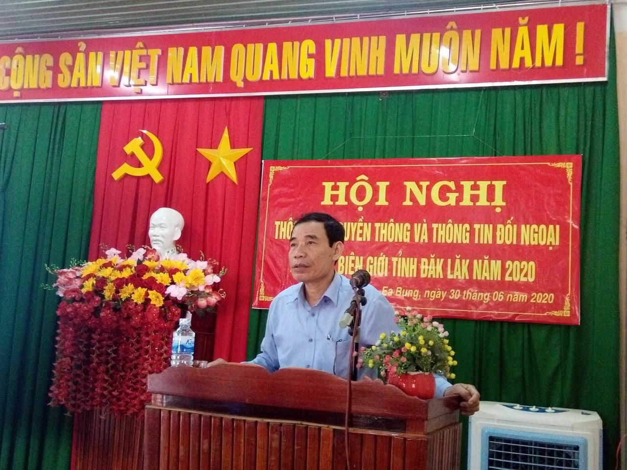 Hội nghị thông tin đối ngoại khu vực biên giới tỉnh Đắk Lắk, đợt 1 năm 2020
