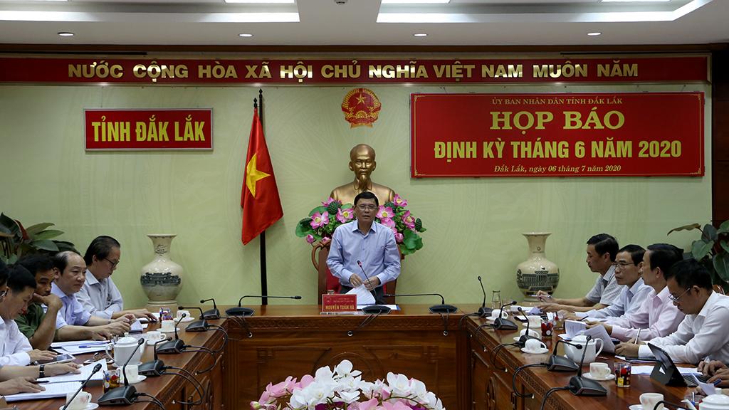 UBND tỉnh họp báo định kỳ tháng 6 năm 2020