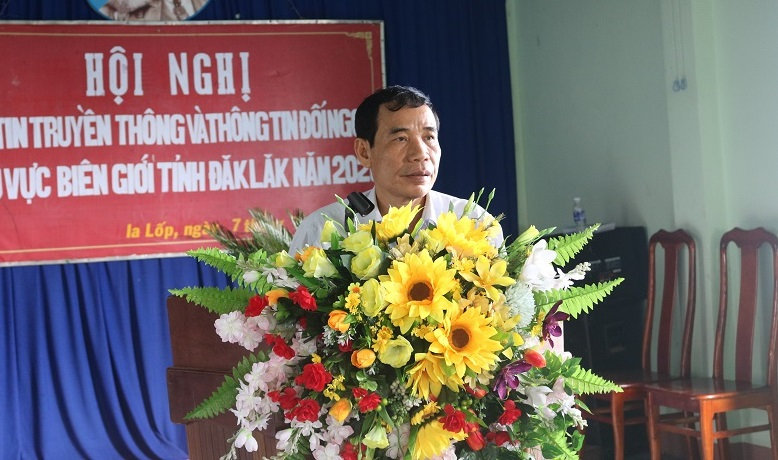 Hội nghị thông tin đối ngoại khu vực biên giới tỉnh Đắk Lắk, đợt 1 năm 2020 tại 2 xã Ia Lốp, Ia Rvê, huyện Ea Súp