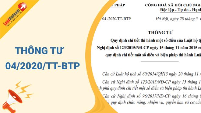 Triển khai Thông tư số 04/2020/TT-BTP, ngày 28/5/2020 của Bộ Tư pháp