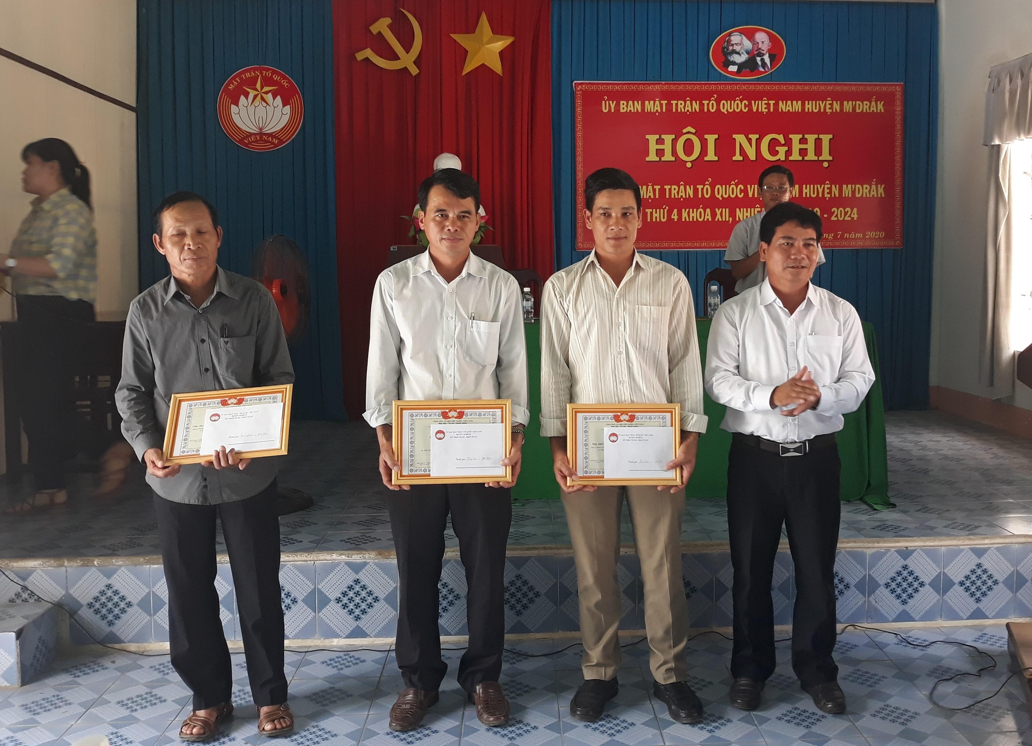 Hội nghị Ủy ban Mặt trận Tổ quốc Việt Nam huyện M'Đrắk lần thứ 4, khóa XII, nhiệm kỳ 2019-2024