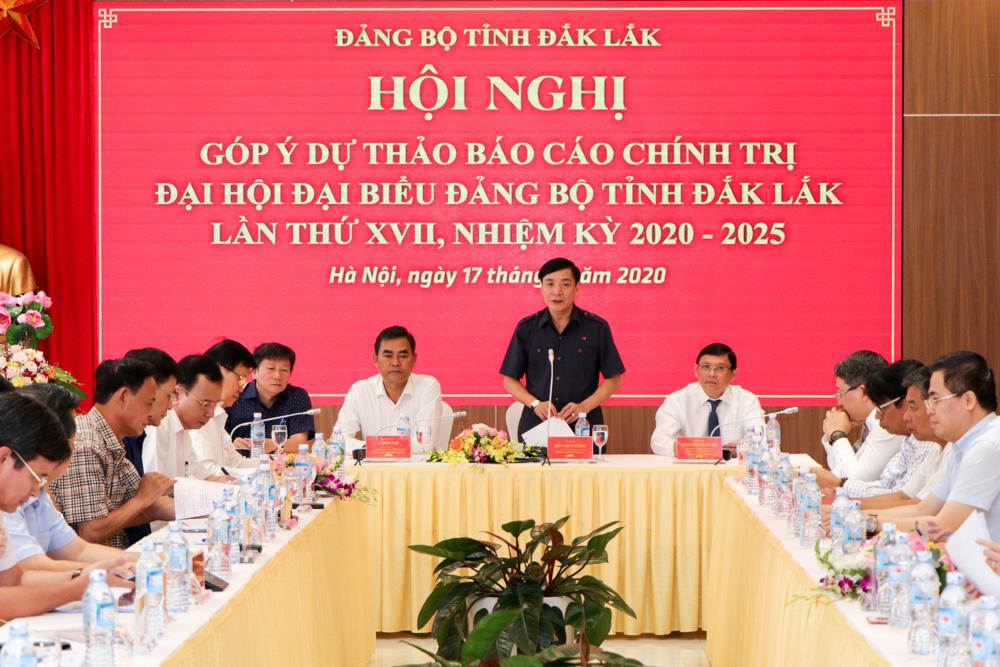 Lấy ý kiến góp ý vào Dự thảo Báo cáo chính trị Đại hội đại biểu Đảng bộ tỉnh Đắk Lắk lần thứ XVII, nhiệm kỳ 2020-2025