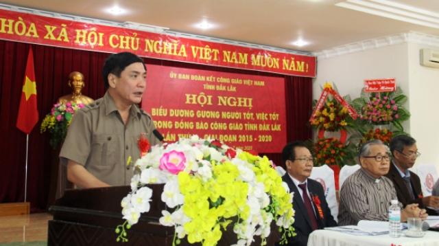 Tuyên dương gương người tốt, việc tốt trong đồng bào công giáo tỉnh Đắk Lắk lần thứ V, giai đoạn 2015-2020