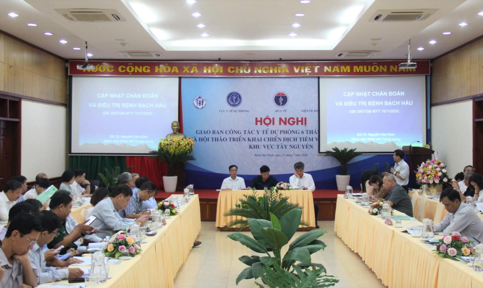 Giao ban công tác y tế dự phòng khu vực Tây Nguyên 6 tháng đầu năm 2020