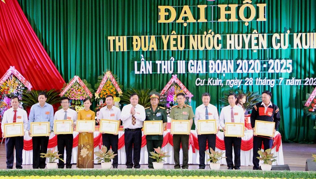 Huyện Cư Kuin tổ chức Đại hội thi đua yêu nước lần thứ III, giai đoạn 2020 - 2025.