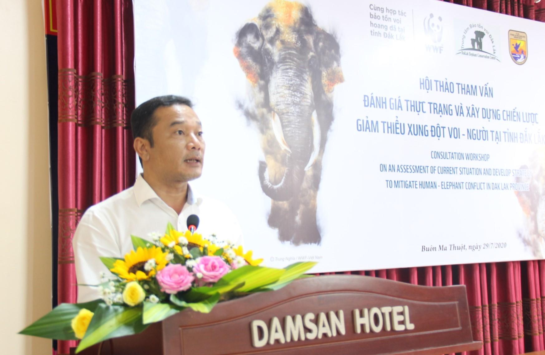 Đánh giá thực trạng và xây dựng chiến lược giảm thiểu xung đột voi – người tại Đắk Lắk