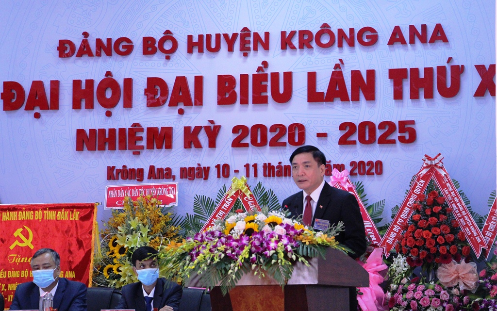 Đại hội đại biểu Đảng bộ huyện Krông Ana lần thứ X, nhiệm kỳ 2020-2025