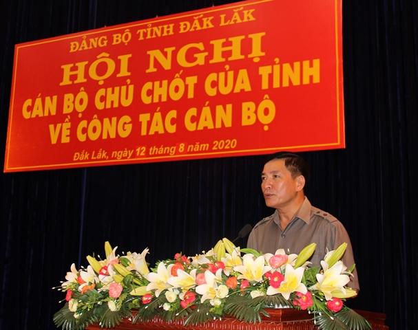 Hội nghị cán bộ chủ chốt của tỉnh thực hiện quy trình về công tác cán bộ